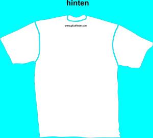 T-Shirt Glückfinder, hinten